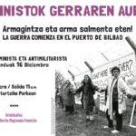 Martxa antimilitarista Santurtzin: Feministok Gerraren Aurka