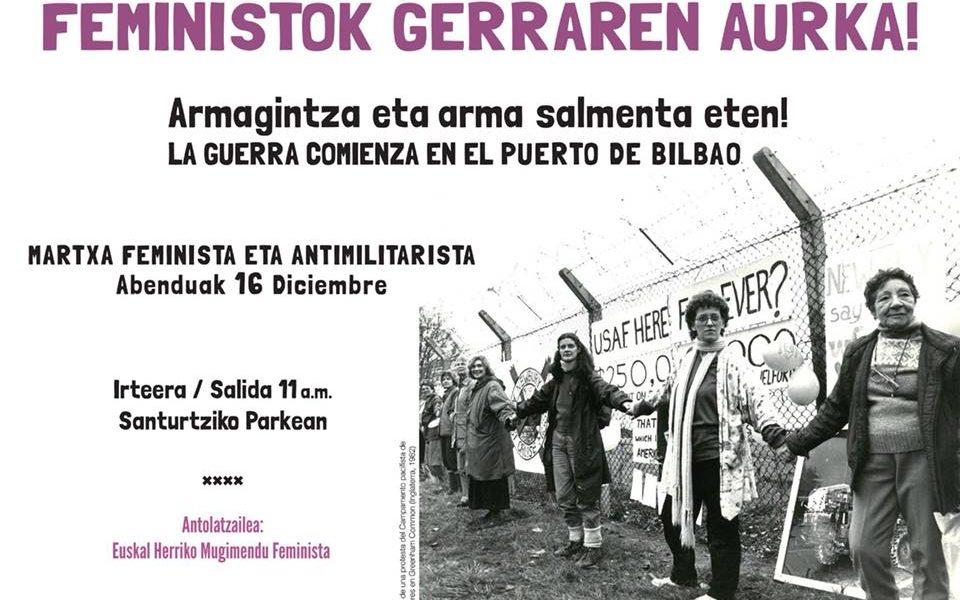 Martxa antimilitarista en Santurtzi: Feministok Gerraren Aurka