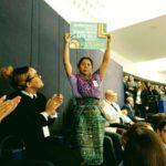 Lolita Chávez denuncia violaciones de derechos humanos por parte de multinacionales en el Parlamento Europeo