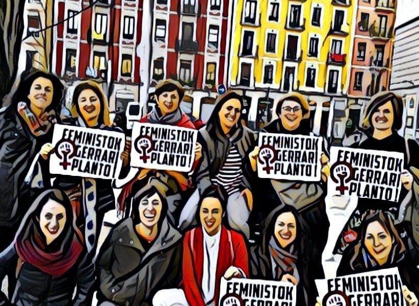 ¡Feministas contra la guerra!