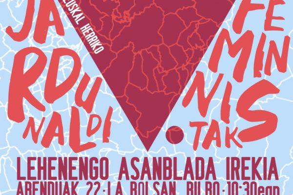 Euskal Herriko Jardunaldi Feministak antolatzeko lehen asanblada nazional irekia!
