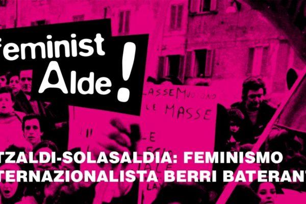 Hitzaldi – Solasaldia: Feminismo internazionalista berri baterantz