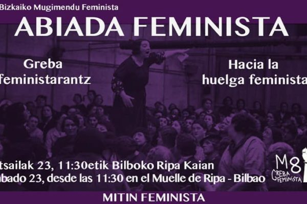 Mitin hacia la huelga: Abiada feminista
