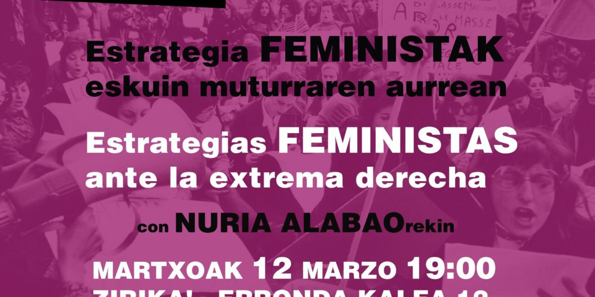 Charla: Estrategias feministas ante la extrema derecha